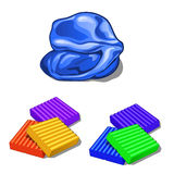 Arcilla del modelado de los niños de diversos colores Foto de archivo
