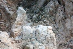 Arcilla en la parte inferior de la mina Imagen de archivo libre de regalías