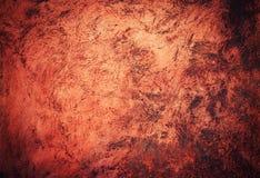 Arcilla quemada rojo con la superficie rasguñada Fotografía de archivo