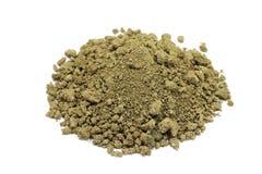 Arcilla seca del polvo de Brown Foto de archivo libre de regalías