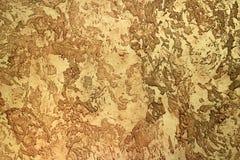 Arcilla texturizada alivio amarillo para la superficie interior Imagenes de archivo