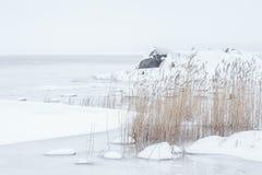 Arcipelago congelato Fotografia Stock