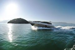 Arcipelago della barca di velocità Fotografie Stock