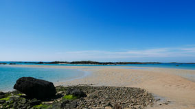Arcipelago di bassa marea di Iles de Chausey (2) Fotografie Stock