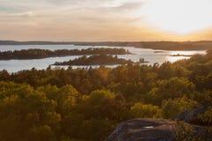 Arcipelago di Stoccolma Fotografie Stock Libere da Diritti