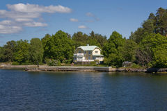Arcipelago di Stoccolma, casa di estate (3) Fotografia Stock Libera da Diritti