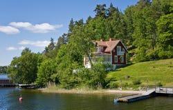 Arcipelago di Stoccolma, casa di estate (4) Fotografie Stock Libere da Diritti
