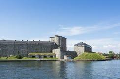 Arcipelago di Stoccolma della fortezza di Vaxholm fotografia stock libera da diritti
