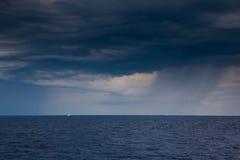 Arcipelago Toscano National Park, Tuscany, Italy - The sea. With storm background royalty free stock photography