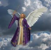 Arcángel Micheal con el cielo - 2 Imagen de archivo libre de regalías