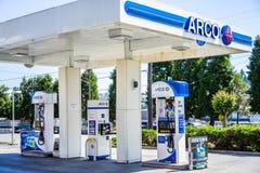ARCO加油站 图库摄影