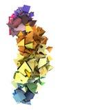 arco-íris abstrato forma 3d elétrica cravada colorida Fotografia de Stock