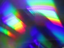 Arco-íris abstrato na textura de DVD Imagem de Stock