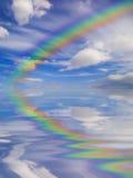 Arco-íris & céu Fotografia de Stock