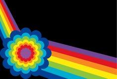 Arco-íris angular com flor ilustração stock