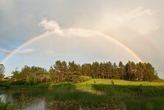 Arco-íris após a chuva Fotos de Stock Royalty Free