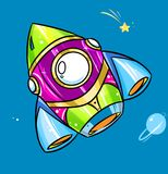 Arco-íris brilhante de Rocket da cor Imagens de Stock Royalty Free