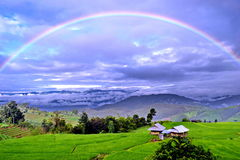 Arco-íris cheio Foto de Stock Royalty Free