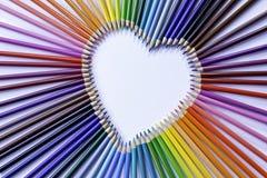 Arco-íris colorido do lápis Fotos de Stock