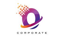 Arco-íris colorido Logo Design da letra O ilustração royalty free