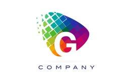 Arco-íris colorido Logo Design de G da letra ilustração do vetor