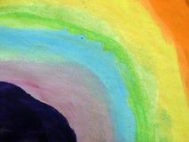 Arco-íris colorido pintado no papel imagem de stock