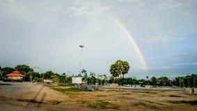 Arco-íris com céu Foto de Stock
