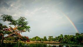 Arco-íris com céu Foto de Stock Royalty Free
