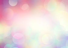 Arco-íris cor-de-rosa fundo borrado ilustração do vetor