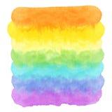 Arco-íris da aquarela Imagem de Stock