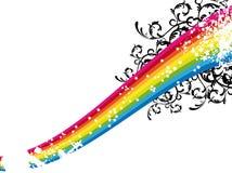 Arco-íris da estrela Ilustração do Vetor