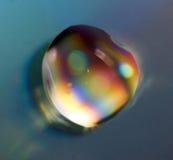 Arco-íris da gota Macro Imagem de Stock