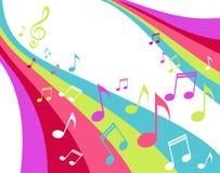 Arco-íris da música Fotografia de Stock