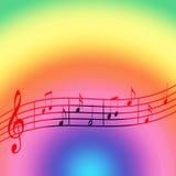 Arco-íris da música ilustração royalty free