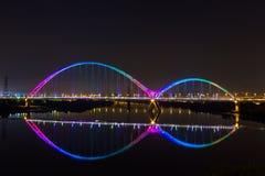 Arco-íris da ponte da lua nova agradável Imagens de Stock Royalty Free