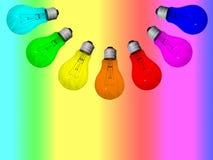 Arco-íris das lâmpadas