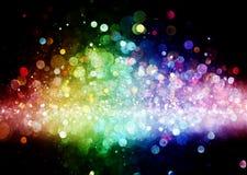 Arco-íris das luzes Imagem de Stock