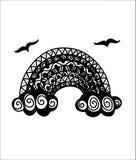Arco-íris de Zentangle Imagens de Stock Royalty Free