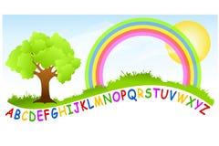 Arco-íris do campo de jogos do alfabeto ilustração stock