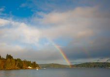 Arco-íris do canal da capa Fotografia de Stock Royalty Free