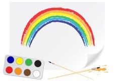 Arco-íris do desenho Fotografia de Stock