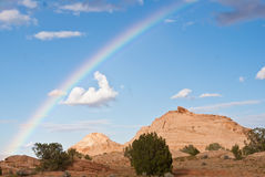 Arco-íris do deserto Fotografia de Stock Royalty Free