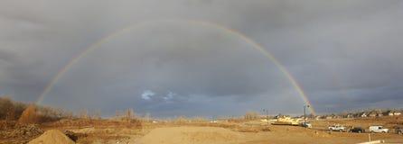 Arco-íris do dobro do local de trabalho Fotografia de Stock Royalty Free