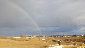 Arco-íris do dobro do local de trabalho Foto de Stock Royalty Free