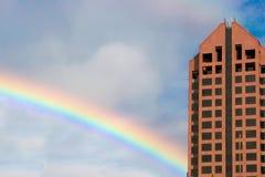 Arco-íris do edifício Imagem de Stock
