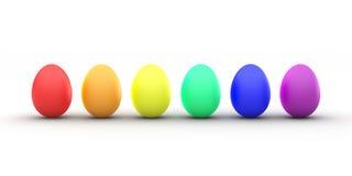 Arco-íris do ovo da páscoa Imagem de Stock