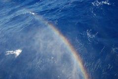 Arco-íris do pulverizador de mar Imagens de Stock Royalty Free