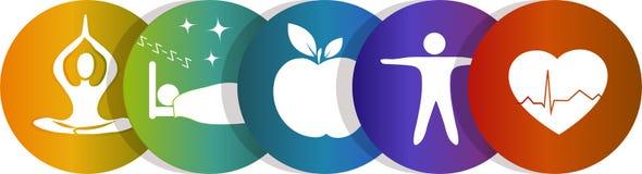 Arco-íris do símbolo da saúde Foto de Stock