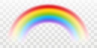 Arco-íris do vetor com efeito transparente ilustração stock