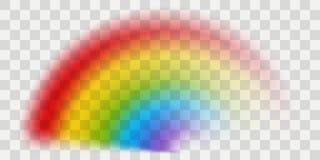 Arco-íris do vetor com efeito transparente ilustração do vetor